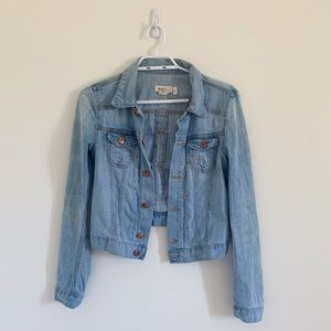 H&M JEAN JACKET WITH COPPER BUTTONS SIZE 6